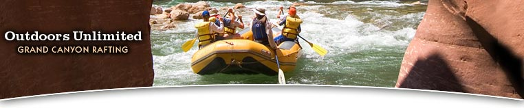 Rafting th Grand Canyon with Outdoors Unlimited