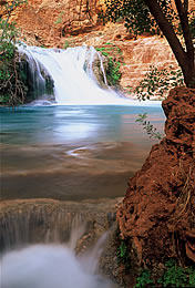 Waterfall on the Grand Canyon